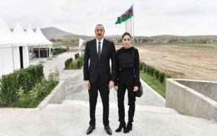 İlham Əliyev və Mehriban Əliyeva Zəngilana getdi