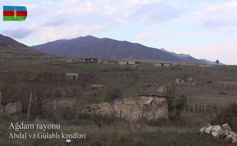 İşğaldan azad olunmuş Ağdam kəndlərinin görüntüləri - VİDEO