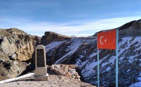 Qubanın Qrız kəndində türk əsgərin məzarı... - Foto